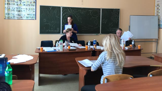 Defense of diploma papers of the students of the department